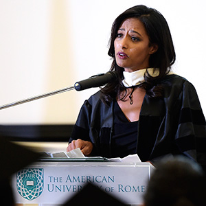Rula Jebreal at The American University of Rome