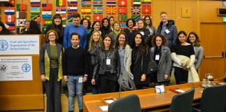 AUR MA Food Studies students attend McGovern Lecture at FAO